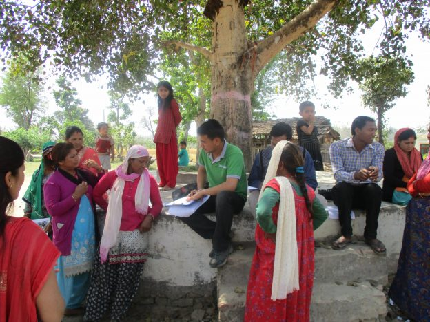 Nepal 22-009 ZSL staff collecting feedback from cooperative members, Credit - ZSL
