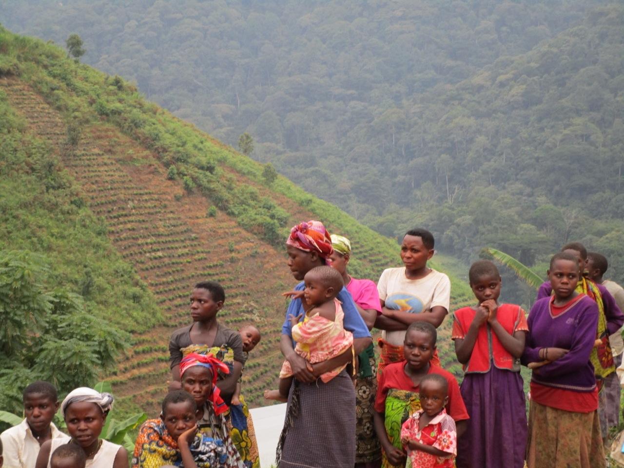 Uganda Batwa community on edge of Bwindi National Park, Credit - Dilys Roe