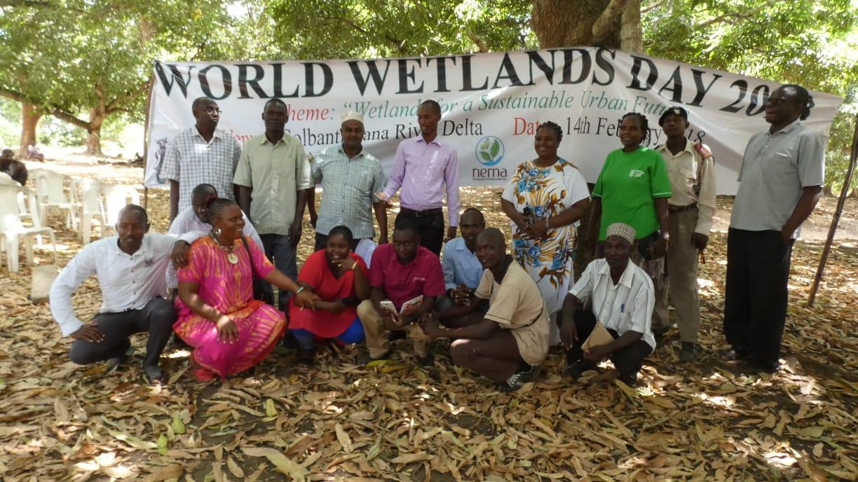 Kenya 21-015 Tana Delta community members and Nature Kenya staff during World Wetlands Day Celebrations 2018, Credit - G. Odera
