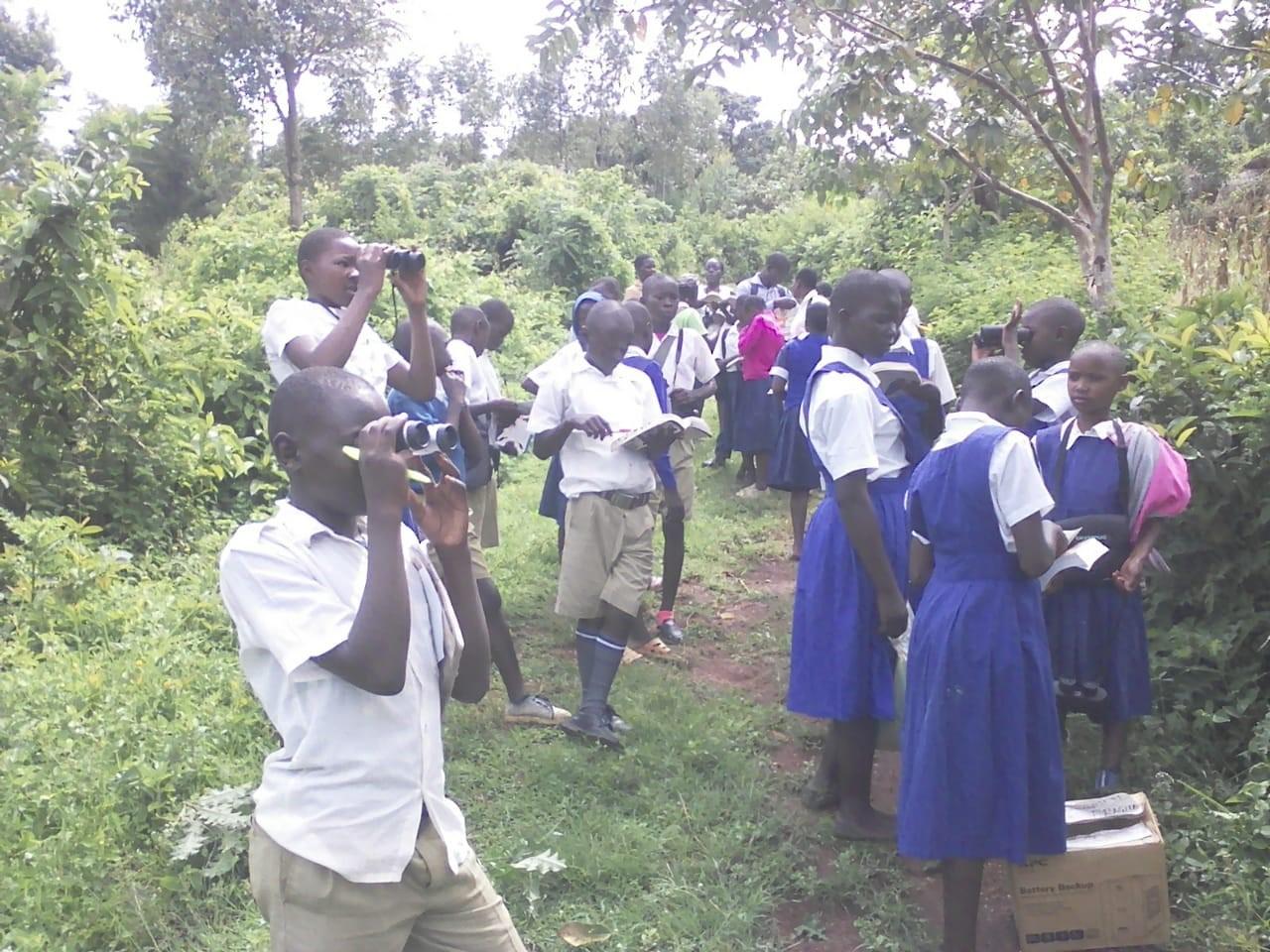 School children copy