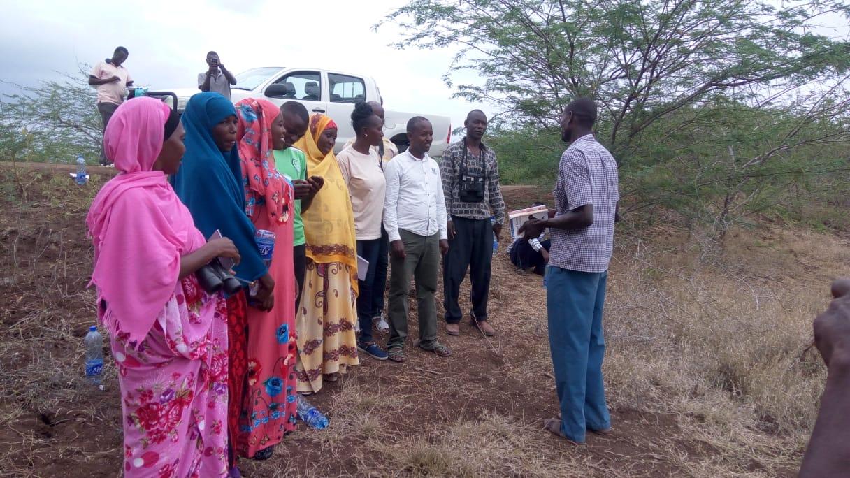 TDCN members during biodiversity monitoring training Photo credit G. Odera
